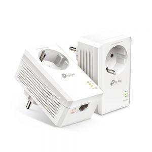 TP-LINK - Kit AV1000 Passthrough Powerline 1 Porta Gigabit 1000Mbps HomePlug AV2