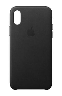 APPLE - iPhone X Leather Case - Black