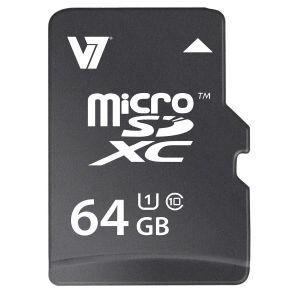 V7 - MICROSD CARD 64GB SDXC MEM CL10 UHS1 22MBPS 15MBS WRITE-PRT