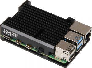 RASPBERRY - Caixa Joy-iT Block para Raspberry Pi 4 Alum'nio Passivo Preto