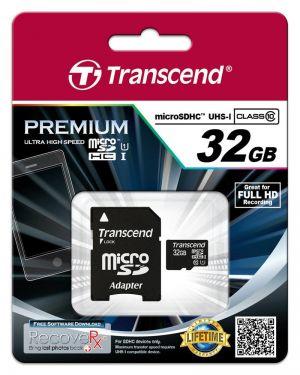 TRANSCEND - 32GB MICROSDHC CLASS10 - TS32GUSDU1