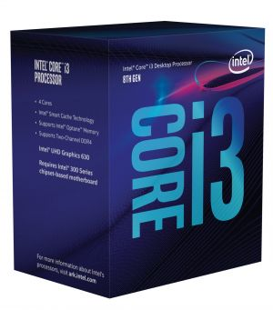 INTEL - Core I3-8100 3.6GHz 6MB LGA 1151 ( Coffee Lake) (Requer board c/ chipset série 300)