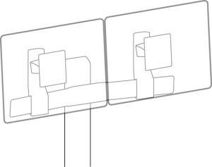 ERGOTRON - Tall-User Kit for WorkFit Dual