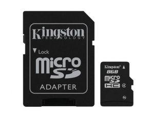 Kingston Technology 8GB microSDHC 8GB MicroSD Flash cartão de memória