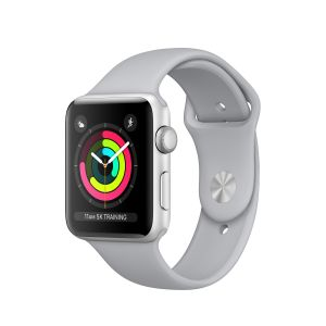 APPLE - Apple Watch Series 3 GPS: 42mm Silver Aluminium Case with Fog Sport Band