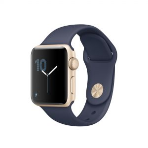 APPLE - Watch Series 1: 38mm Gold Aluminium Case with Midnight Blue Sport Band