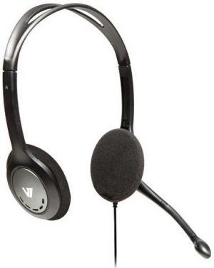 V7 - AUDIO - AUDIO STDRD HEADSET BLK/SIL ACCS STEREO HEADPHONES MICROPHONE - HA201-2EP