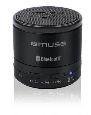 MUSE - Colunas NEGRO Bluetooth M-310 BT 3W Mãos Livres ENTRADA AUXILIAR 3H BATERIA INTERNA 3W