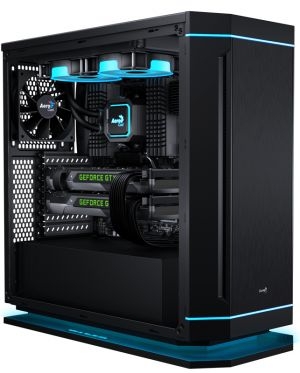AEROCOOL - Caixa AEROCOOL DS 230 ATX /MICRO-ATX/MINI-ITX/MIDI-TOWER C/7 COLOUR 2XUSB2.0/USB3.0 BLACK - DS230BK
