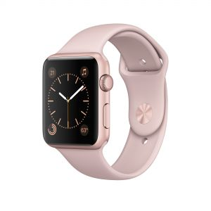 APPLE - Watch Series 1: 42mm Rose Gold Aluminium Case with Pink Sand Sport Band