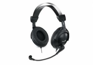 GENIUS - HS-M505X: full-sizee earcups headset: volume control: SINGLE JACK
