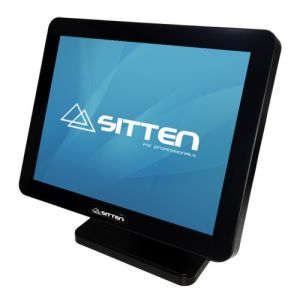 SITTEN - POS TP-3510 - Ecrã 15P Touch: Intel Quad-Core J1900: 4GB DDR3: 64GB SSD. 3x RS232: 1x VGA: 1x RJ45: 5x USB. Fanless. Waterprof. Robusto. Base metálica.