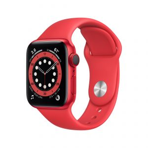 APPLE - Watch Series 6 GPS + Cellular 40mm em Aluminio PRODUCT(RED) com Bracelete Desportiva PRODUCT(RED)