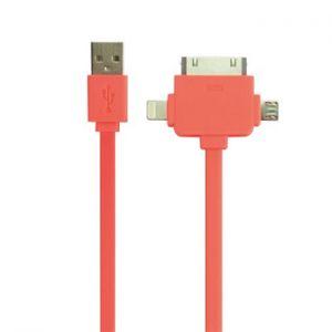VELLEMAN - Cabo USB 2.0 para iPhone/iPad/micro USB 3 em 1