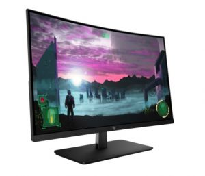 HP - 27x Curved - Monitor 27P VA com retroiluminação LED, Resolução 1920 x 1080 FHD, Brilho: 300 cd/m², Tempo de resposta: 5ms, Contraste: 3000:1 estático, 10M:1 dinâmico, 1 x HDMI, 1 Porta DisplayPort 1.2 (com suporte HDCP)