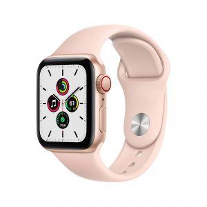 APPLE - Watch SE GPS + Cellular 40mm em Aluminio Dourado com Bracelete Desportiva Rosa Areia