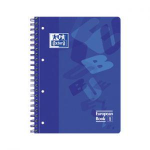 OXFORD - Caderno Espiral European Plastico A4 Pautado Azul Pack (min. 5 un.)