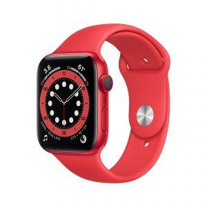 APPLE - Watch Series 6 GPS + Cellular 44mm em Aluminio PRODUCT(RED) com Bracelete Desportiva PRODUCT(RED)