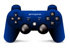 1LIFE - gp:player blue gaming controller PC + PS3