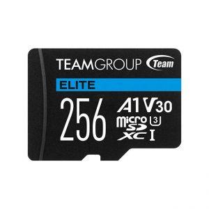 TEAMGROUP - Micro SD Elite 256GB class10 UHS-I U3 V30 A1 SDHC/SDXC (90MB/s-45MB/s)