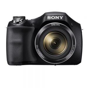 SONY - Cyber-shot H300 Preto - Sensor de 20 MP. vídeo HD e efeitos criativos. Zoom óptico 35x