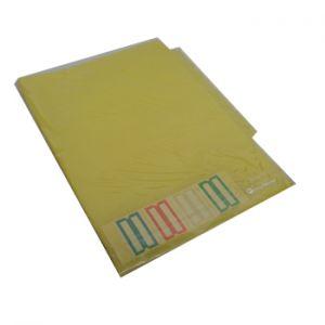 OFFICE - Bolsa Plastico em L A4 c/4 Separadores Amarelo