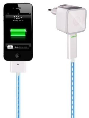 DEXIM - Visible Green Smart Charger 2A (white)