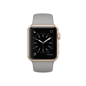 APPLE - Watch Series 1: 38mm Gold Aluminium Case with Concrete Sport Band