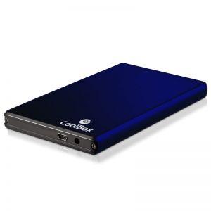 COOLBOX - CAIXA P/ DISCO EXTERNO ALUMINIO AZUL 2.5P USB 2.0 - 2520