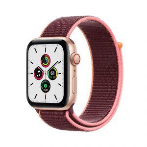APPLE - Watch SE GPS + Cellular 44mm em Aluminio Dourado com Bracelete Loop Desportiva Ameixa