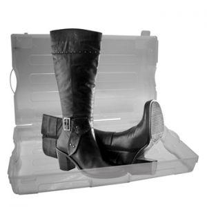 PEREL - Caixa plástica transparente para sapatos 555x320x130mm