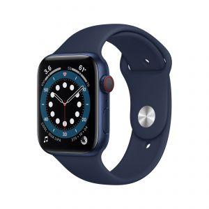 APPLE - Watch Series 6 GPS + Cellular 44mm em Aluminio Azul com Bracelete Desportiva Azul Profundo