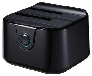 TOOQ - DOCK TQDS-802B 2xSATA 25P/35P USB 3.0 CLONE OTB PRETO