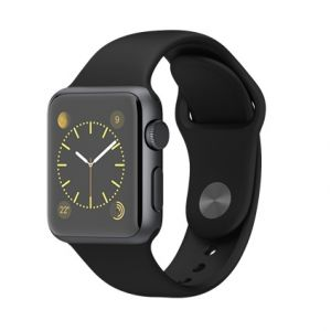 APPLE - Watch SPORT 38mm Space Gray Aluminium Case with Black Sport Band