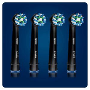 Braun - 4 Cabeças para Escova de dentes EB50-3 1 CROSS ACTION BLACK EDITION