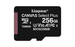 KINGSTON - SD 256GB MICRO SDXC 100R A1 C10 CARD C/ADAPTADOR