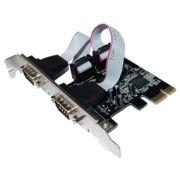 LONGSHINE - Placa com 2 Portas Série  PCIe LowProf LCS-6321-LP