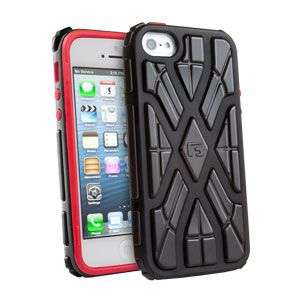 G-FORM - iPhone 5  Black/Red with Black RPT - EPHS00214BE