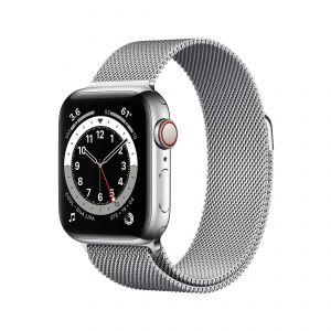 APPLE - Watch Series 6 GPS + Cellular 40mm em Aco Inoxidavel Prateado com Bracelete Loop Milanesa Prateada