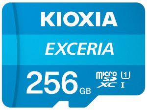 KIOXIA - MICRO SD 256GB EXCERIA UHS-I C10 R100 COM ADAPTADOR