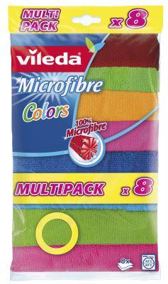 VILEDA - Panos Microfibras Colors 8un