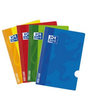 OXFORD - Caderno Agrafado Oxford Openflex Capa Plástico: A4: Pautado: 90grs: 48 Folhas: 4 Cores Azul: amarelo: verde e vermelho (min. 10 un.)