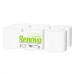 RENOVA - Papel Higienico (Jumbo) RenovaVerde 2Fls 120mts (Pack12)