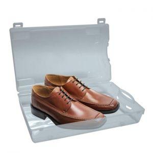 PEREL - Caixa plastica transparente para sapatos 350x205x130mm