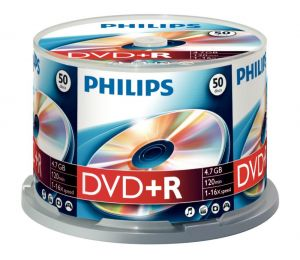 PHILIPS - DVD+R 4,7GB 16x Cakebox (50 unidades)