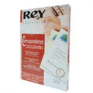 REY - Papel 100gr A4 Rey Acetinado Branco - 250 Folhas