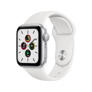 APPLE - Watch SE GPS 40mm Prateado com Bracelete Desportiva Branca - Regular