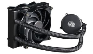 COOLER MASTER - MasterLiquid 120 Dual Push-Pull MasterFan Air Balance low profile Dual Chamber FEP tubing Silent. => AM4 READY