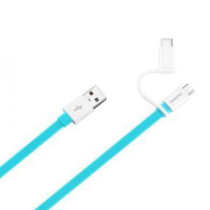 HUAWEI - Cabo de dados Micro USB e Tipo-C Colorful Data - Azul