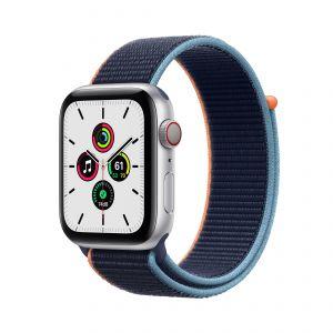 APPLE - Watch SE GPS + Cellular 44mm em Aluminio Prateado com Bracelete Loop Desportiva Azul Profundo